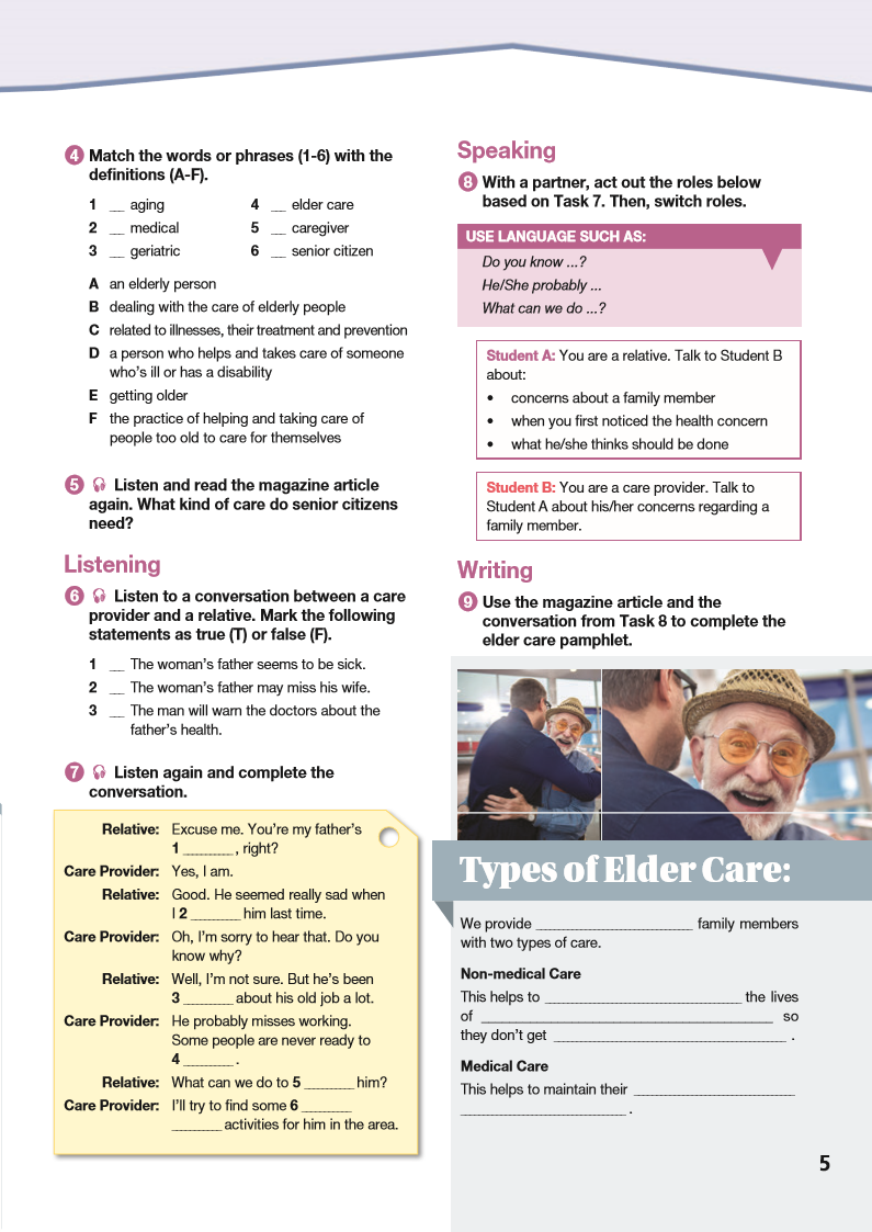 ESP English for Specific Purposes - Career Paths: Elder Care - Sample Page 2