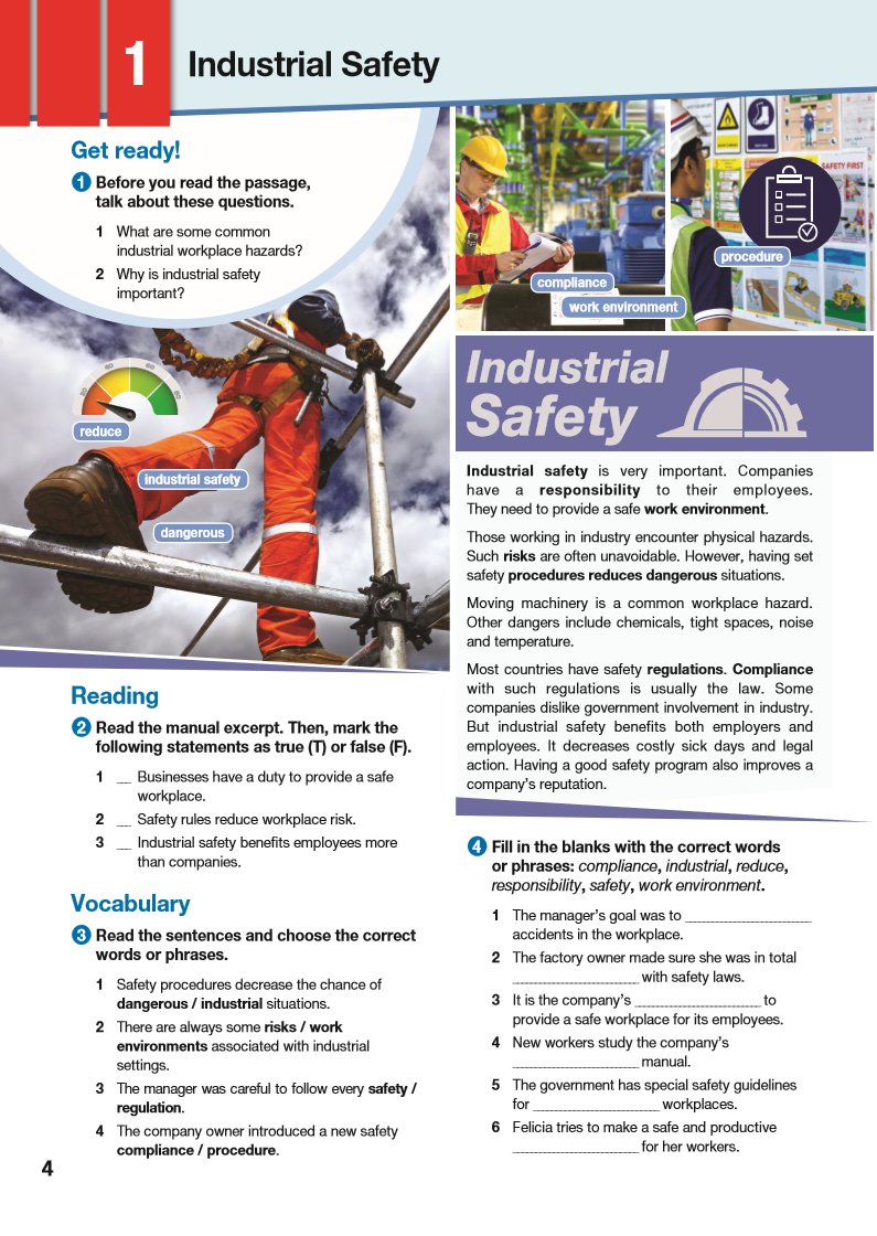 ESP English for Specific Purposes - Career Paths: Industrial Safety - Sample Page 1