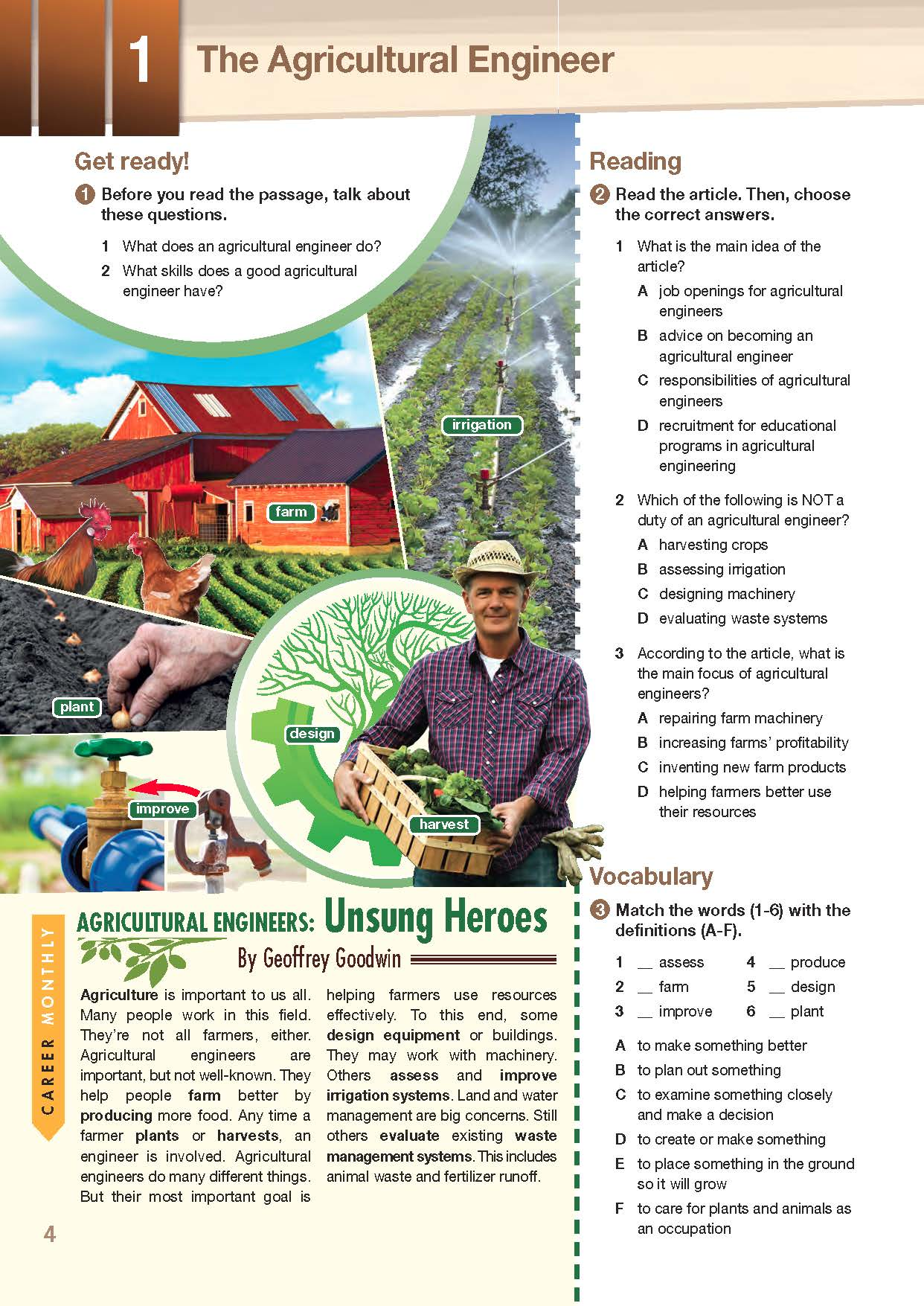 ESP English for Specific Purposes - Career Paths: Agriculture Engineering- Sample Page 1