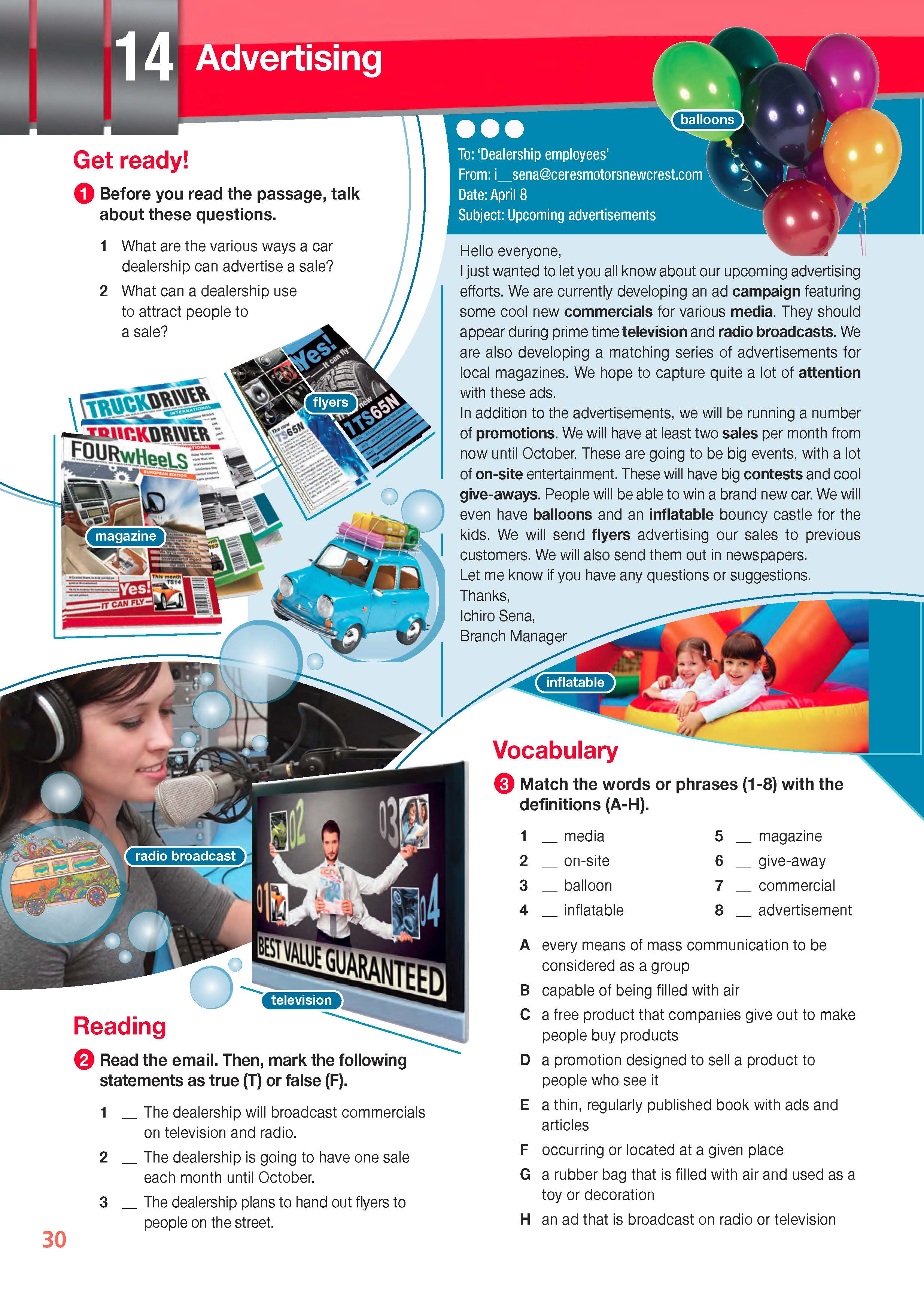 ESP English for Specific Purposes - Career Paths: Automotive Industry- Sample Page 3