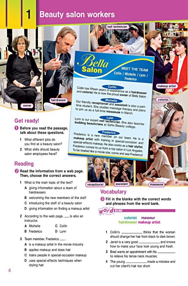 Sample Page 1 - Career Paths: Beauty Salon