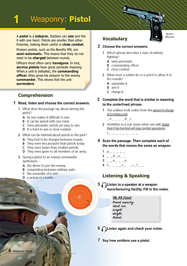Sample Page 1 - Career Paths: Command & Control