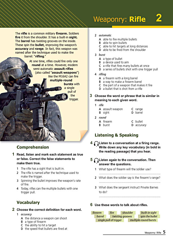 Sample Page 2 - Career Paths: Command & Control