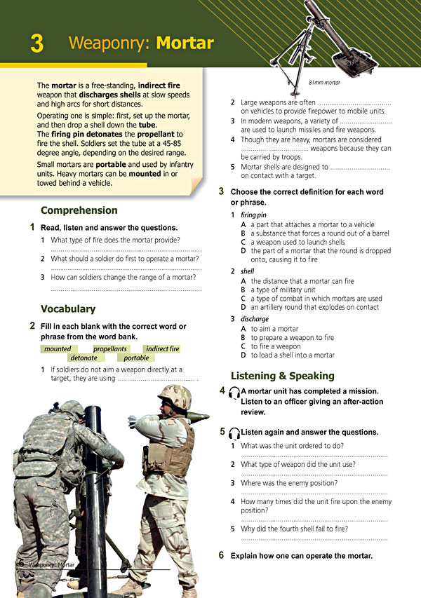 Sample Page 3 - Career Paths: Command & Control
