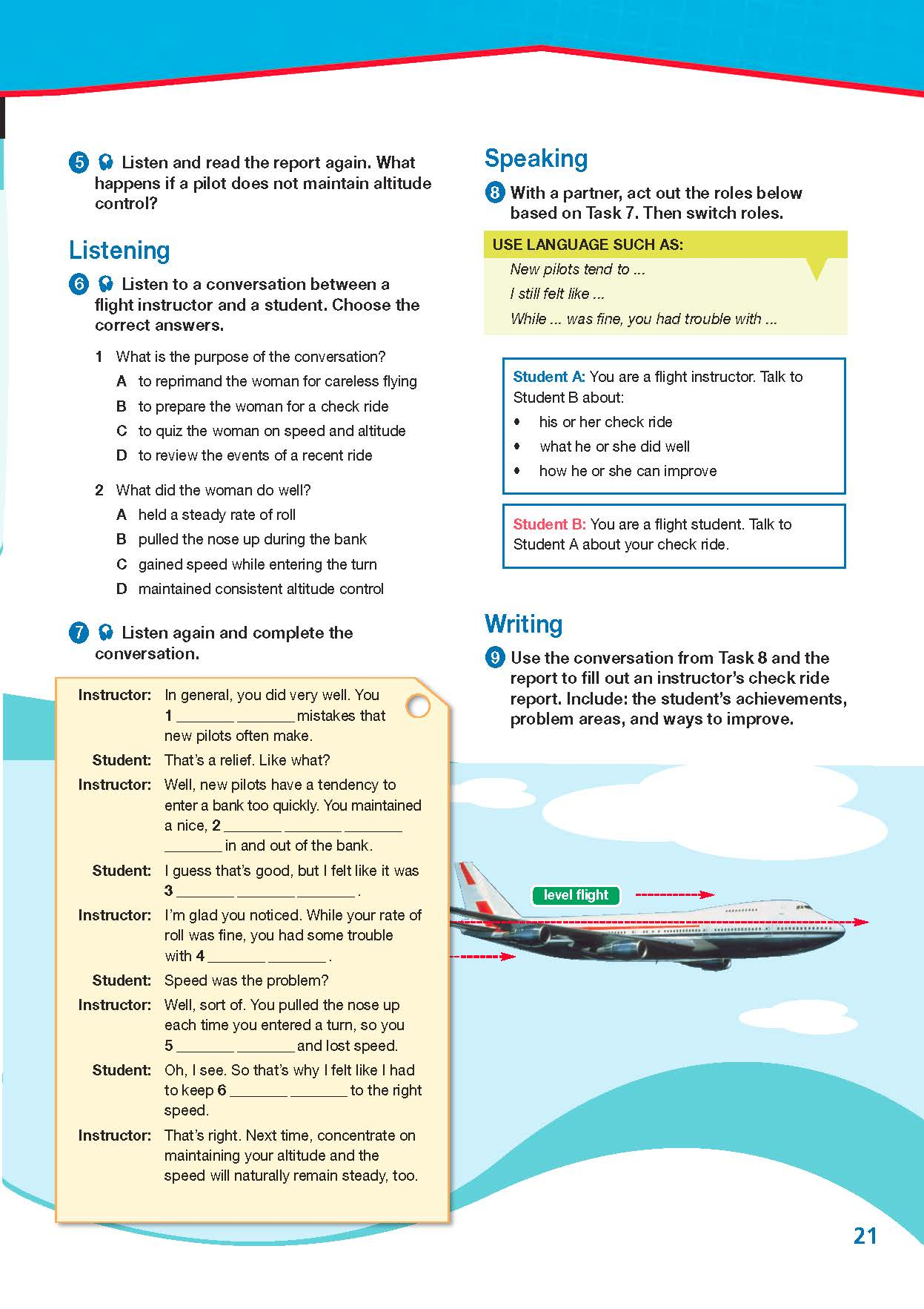 ESP English for Specific Purposes - Career Paths: Civil Aviation - Sample Page 4
