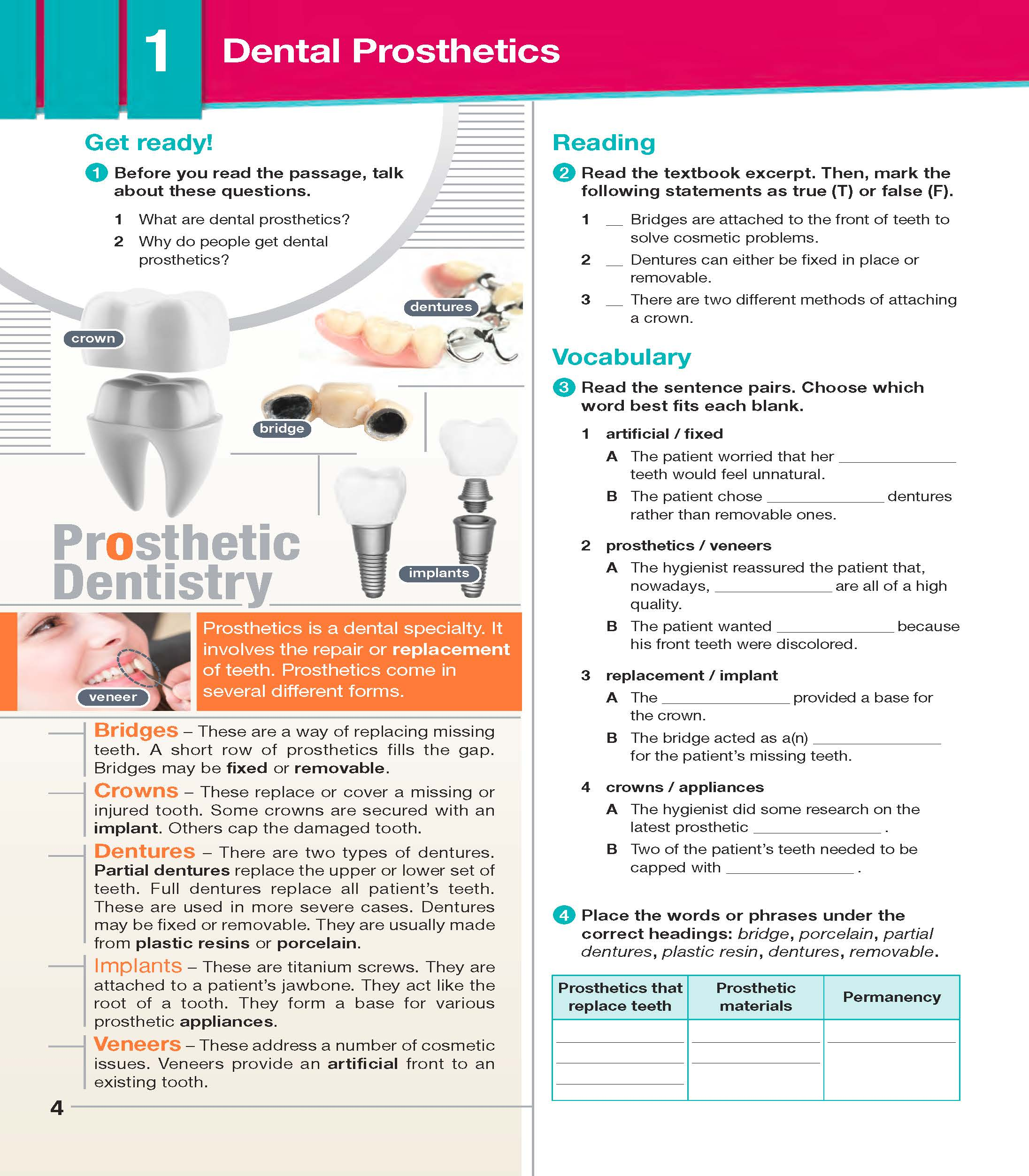 ESP English for Specific Purposes - Career Paths: Dental Hygienist- Sample Page 1