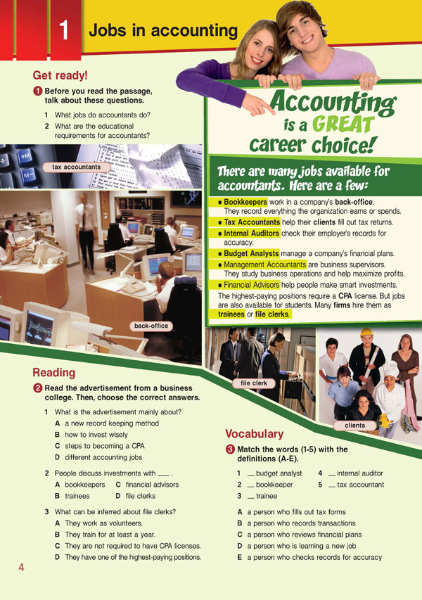 Sample Page 1 - Career Paths: Accounting