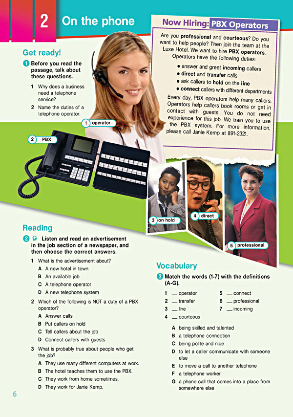 Sample Page 3 - Career Paths: Tourism