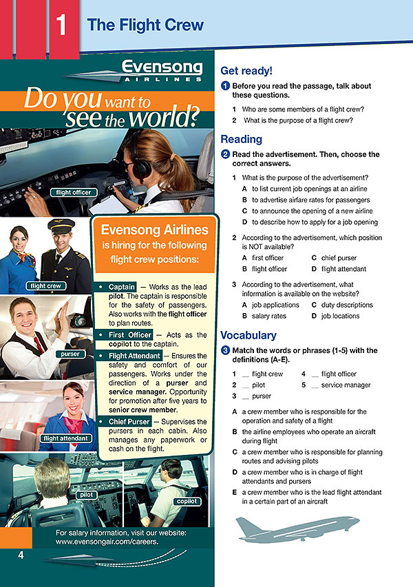 Sample Page 1 - Career Paths: Flight Attendant