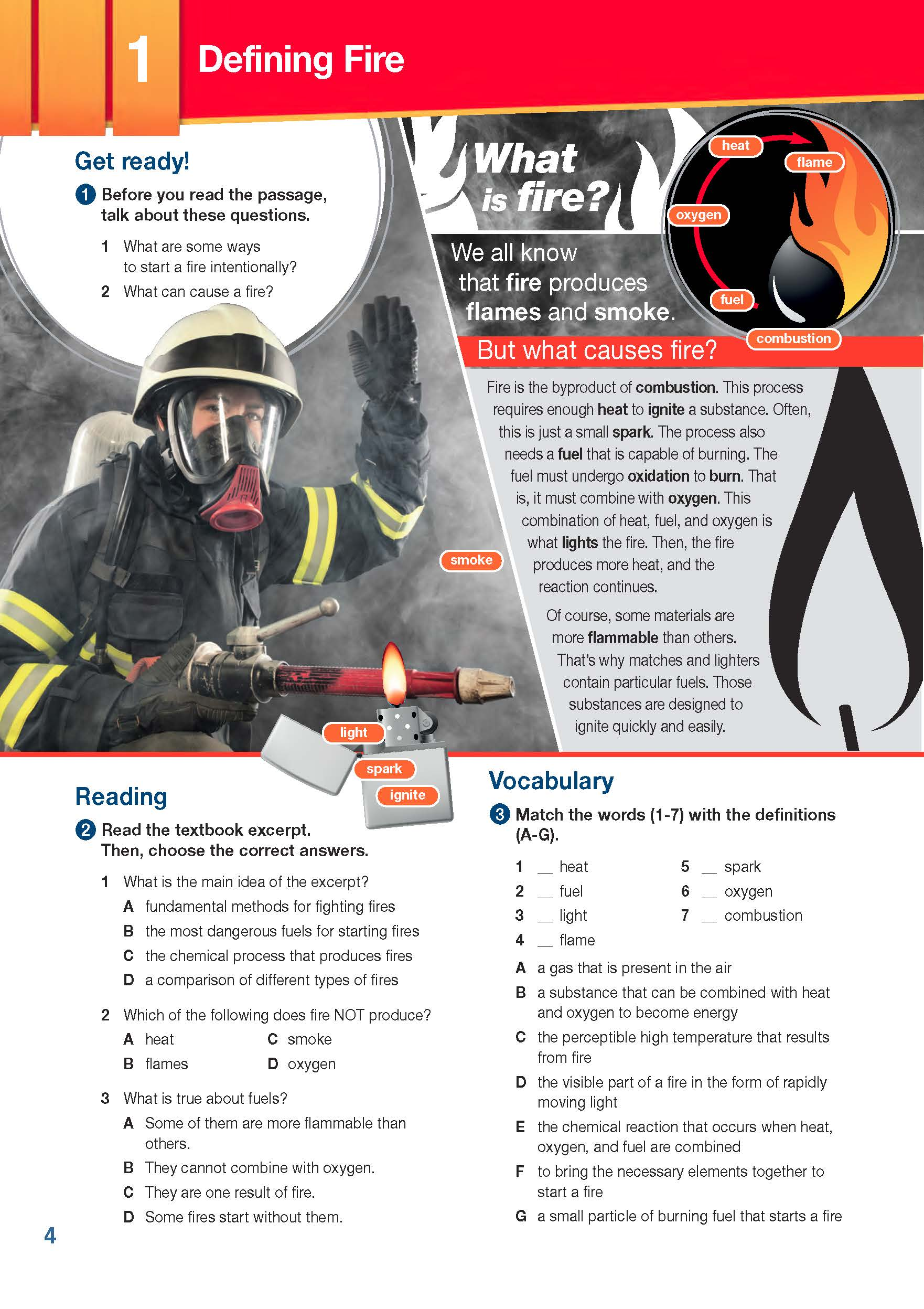 ESP English for Specific Purposes - Career Paths: Firefighters - Sample Page 1