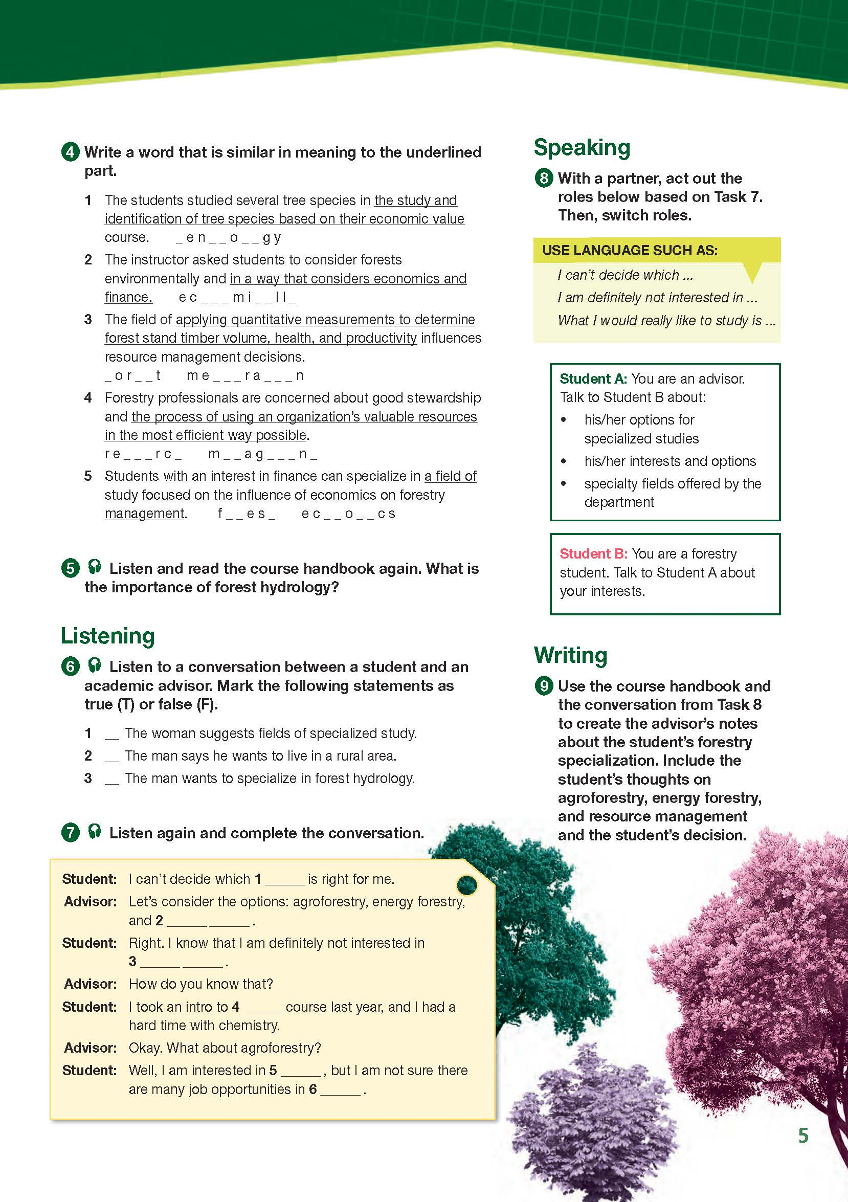 ESP English for Specific Purposes - Career Paths: Natural Resources I Forestry - Sample Page 2