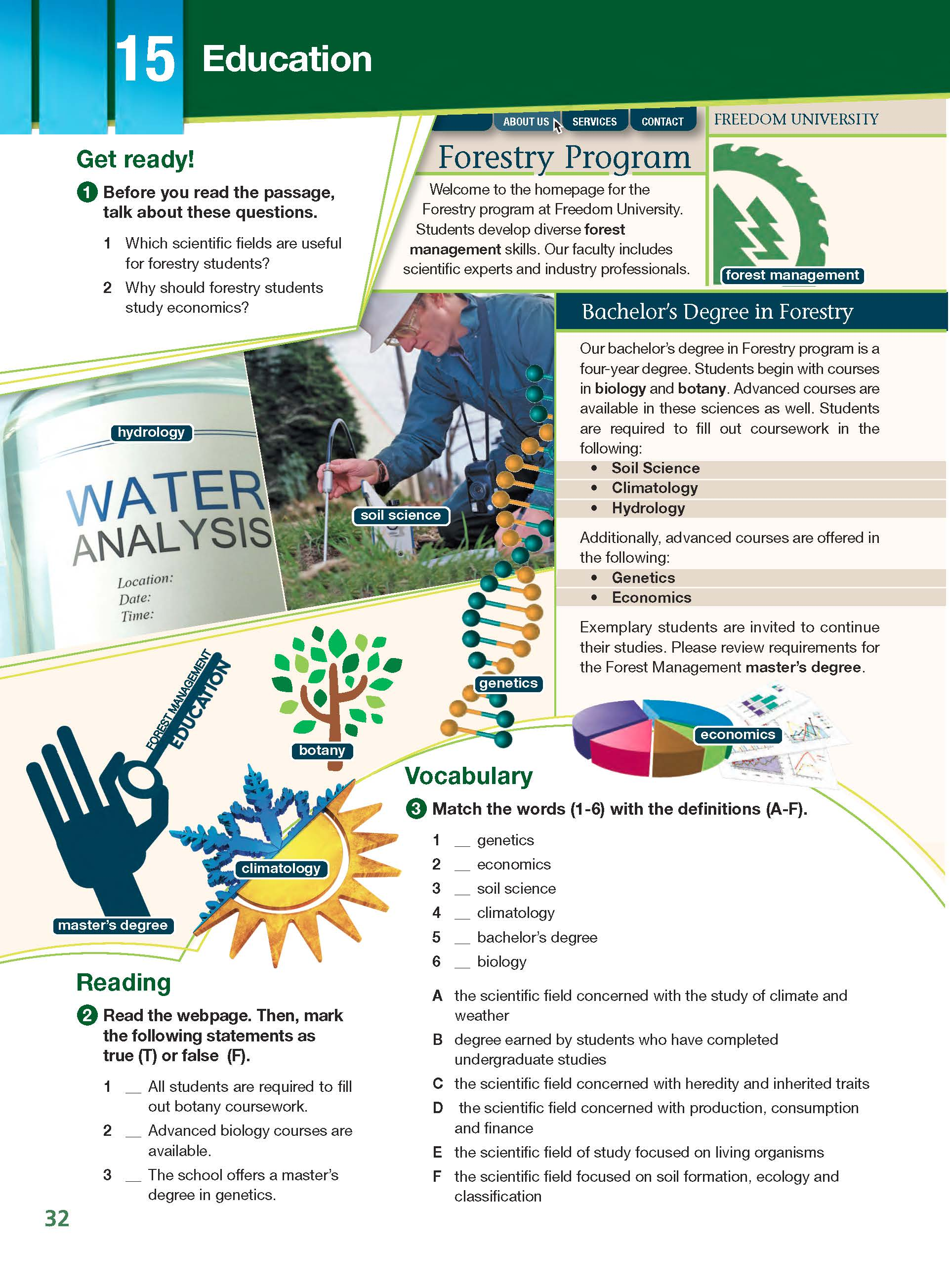ESP English for Specific Purposes - Career Paths: Natural Resources I Forestry - Sample Page 3
