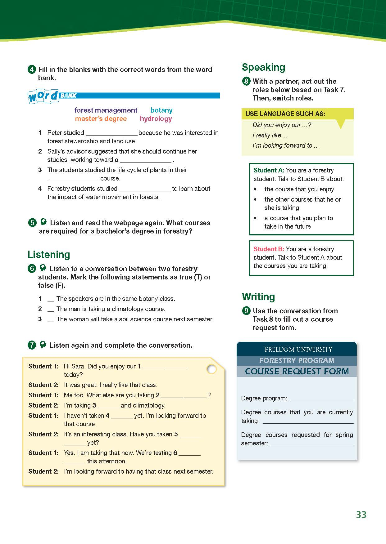 ESP English for Specific Purposes - Career Paths: Natural Resources I Forestry - Sample Page 4