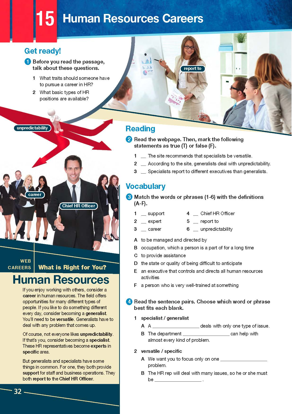 ESP English for Specific Purposes - Career Paths: Human Resources - Sample Page 3