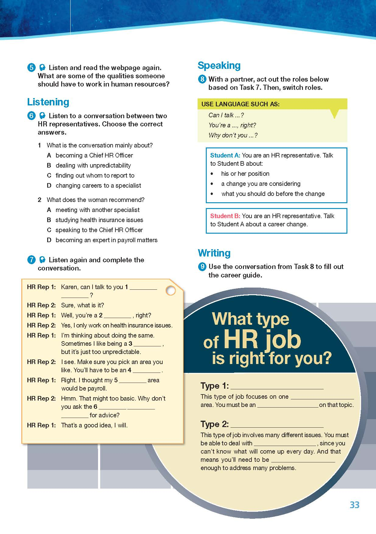ESP English for Specific Purposes - Career Paths: Human Resources - Sample Page 4