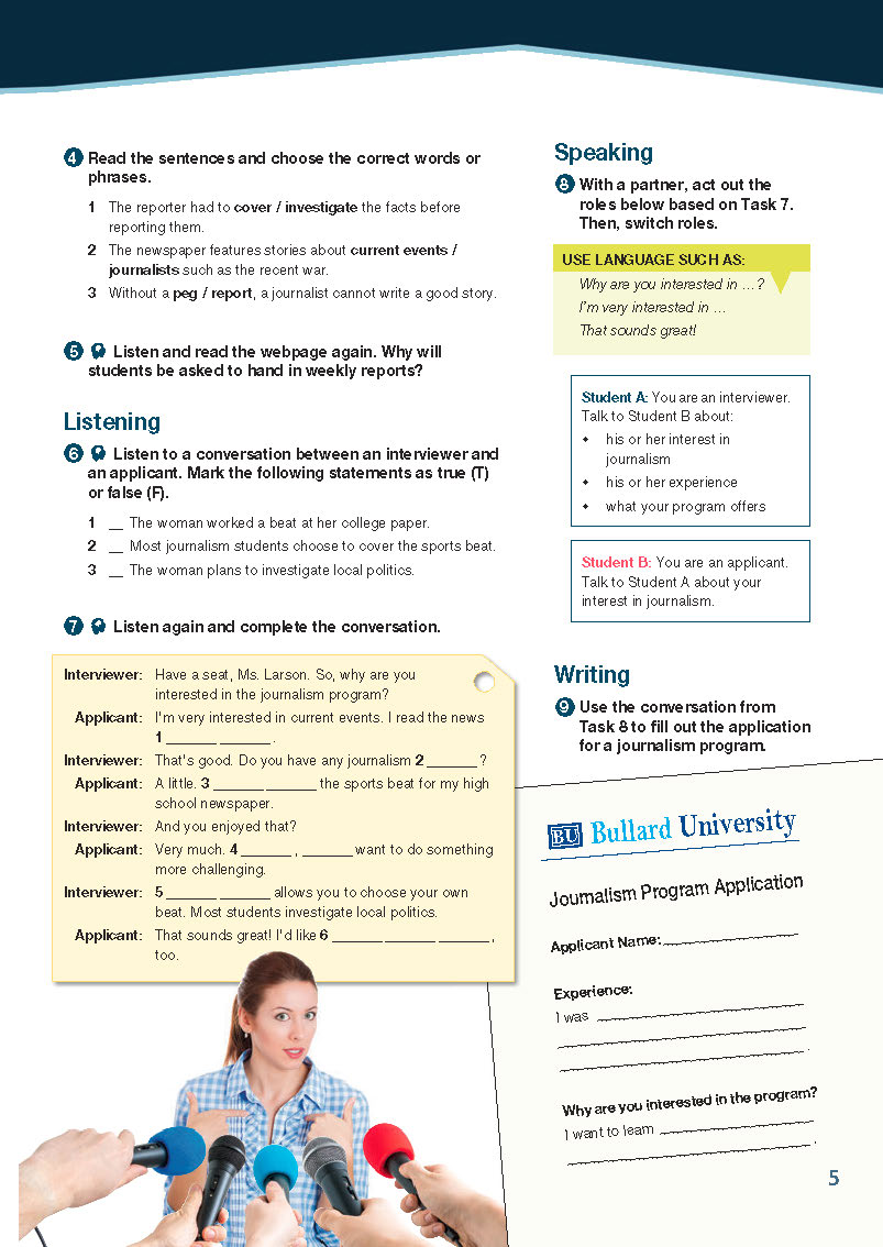 ESP English for Specific Purposes - Career Paths: Journalism - Sample Page 2