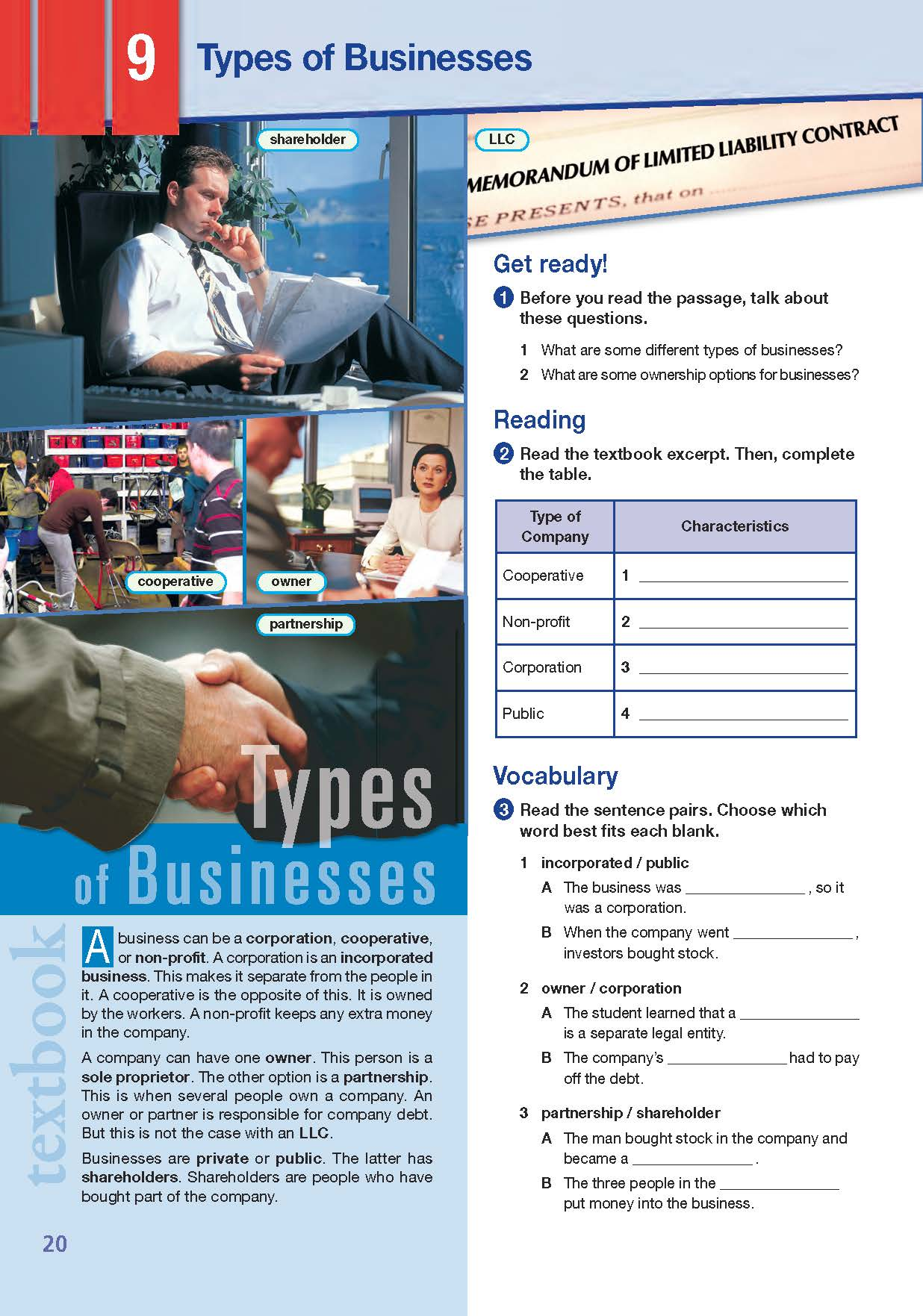 ESP English for Specific Purposes - Career Paths: MBA - Sample Page 1