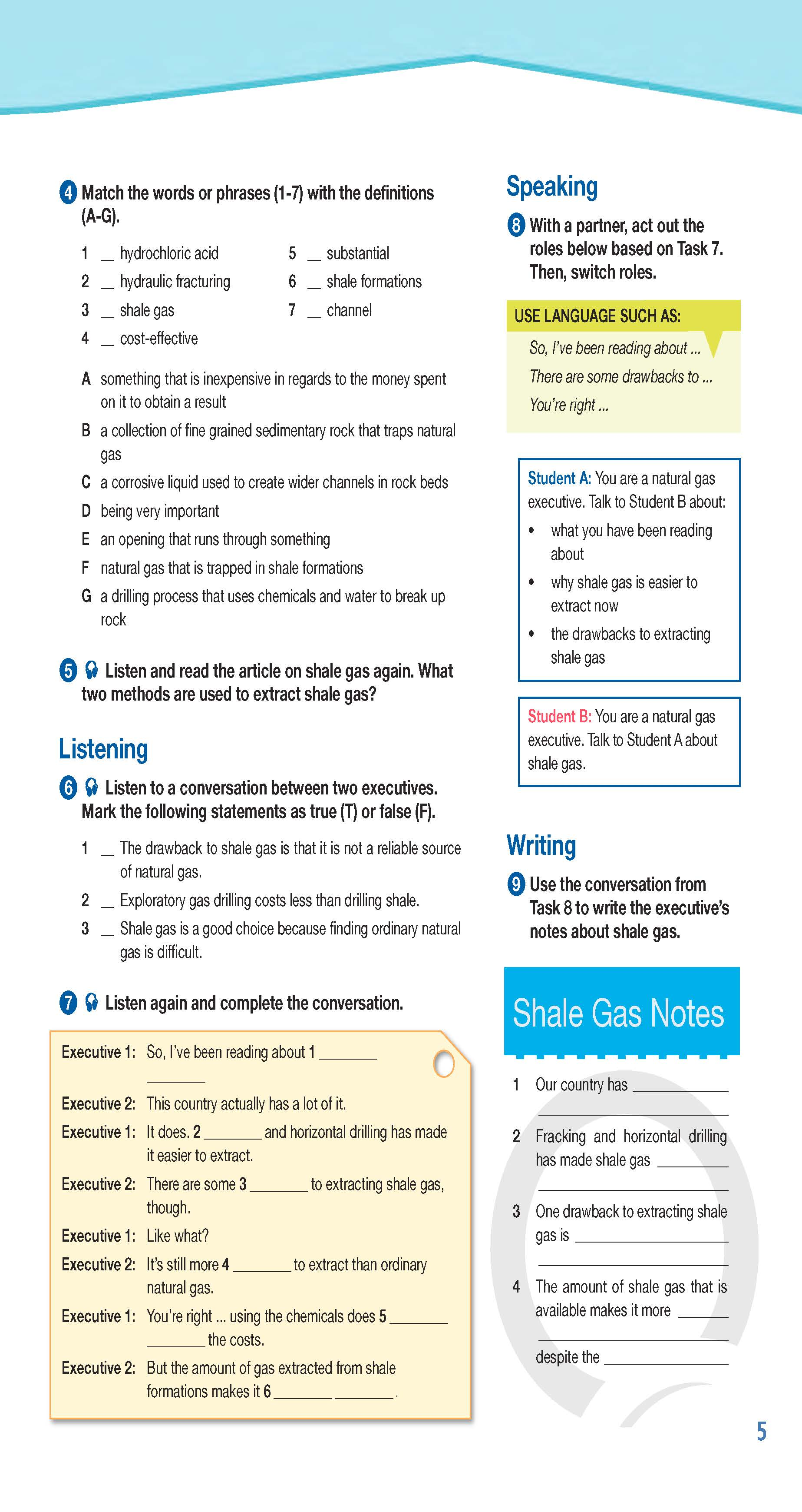ESP English for Specific Purposes - Career Paths: Natural Gas II - Sample Page 2