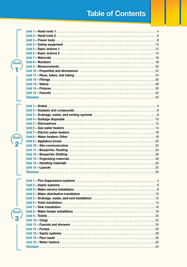 Contents - Career Paths: Plumbing