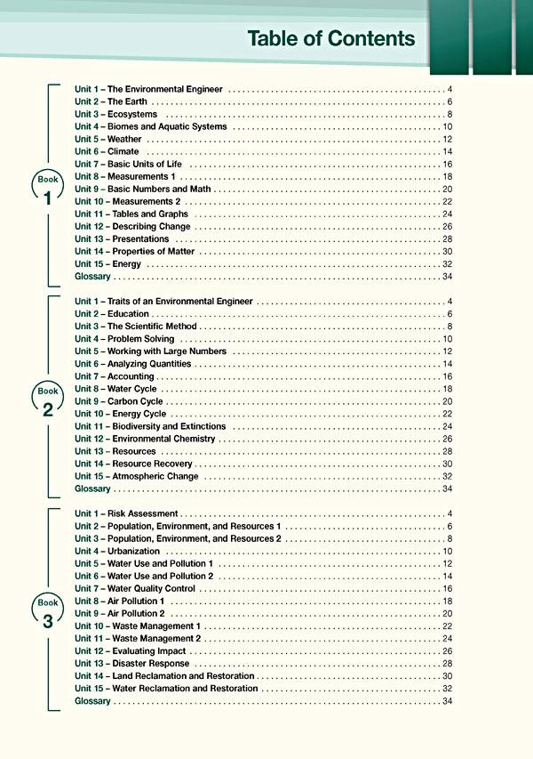 Contents - Career Paths: Environmental Engineering