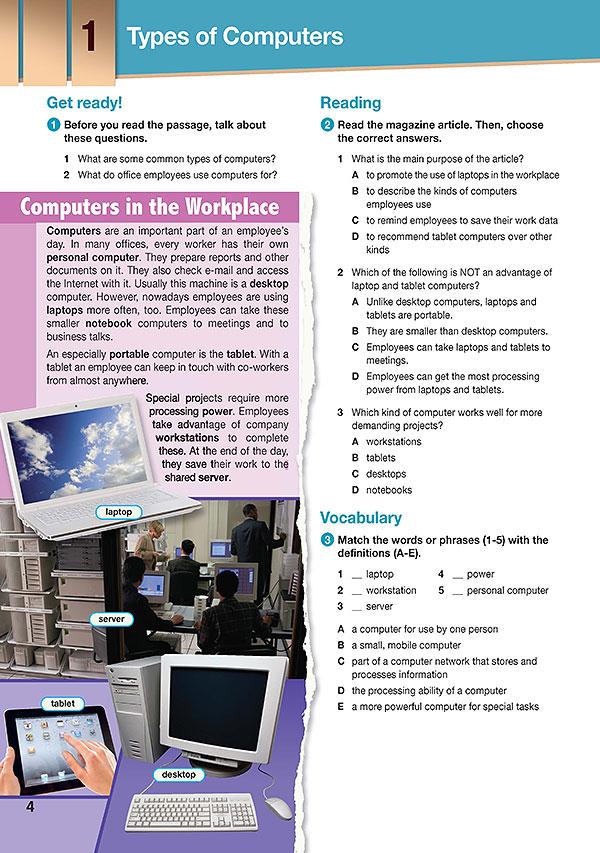 Sample Page 1 - Career Paths: Computing