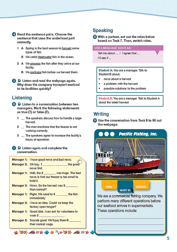 Sample Page 2 - Career Paths: Fishing & Seafood Industry