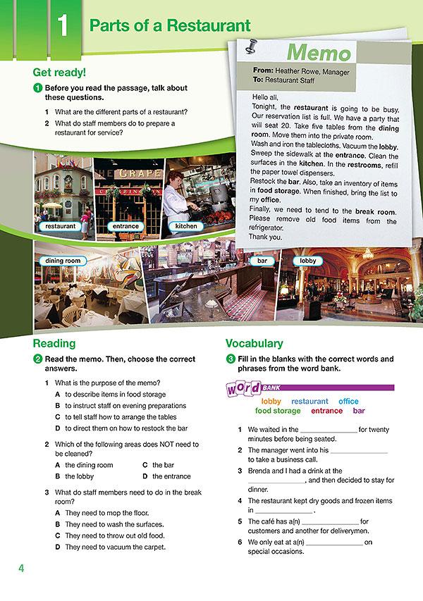 Sample Page 1 - Career Paths: Food Service Industries