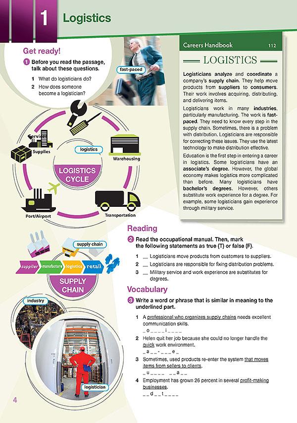 Sample Page 1 - Career Paths: Logistics