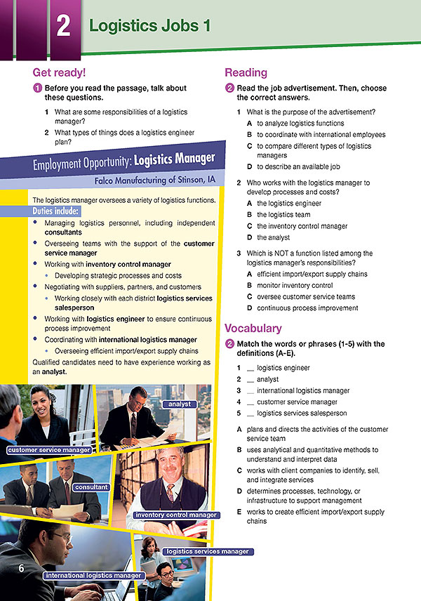 Sample Page 3 - Career Paths: Logistics
