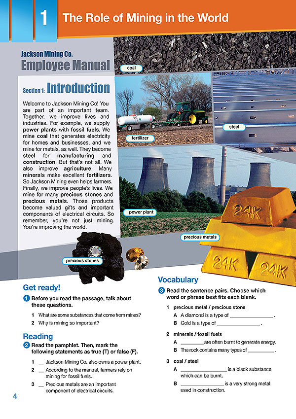 Sample Page 1 - Career Paths: Natural Resources II - Mining