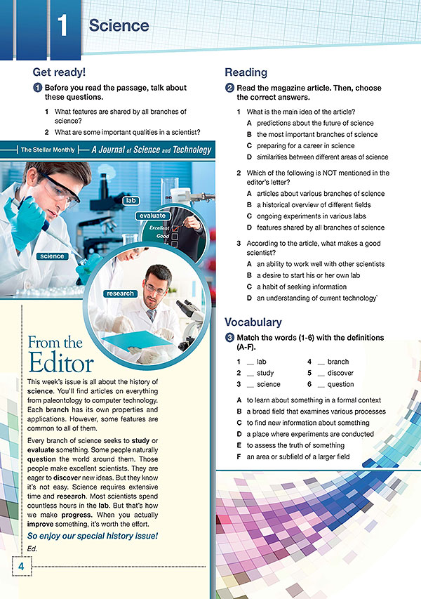 Sample Page 1 - Career Paths: Science
