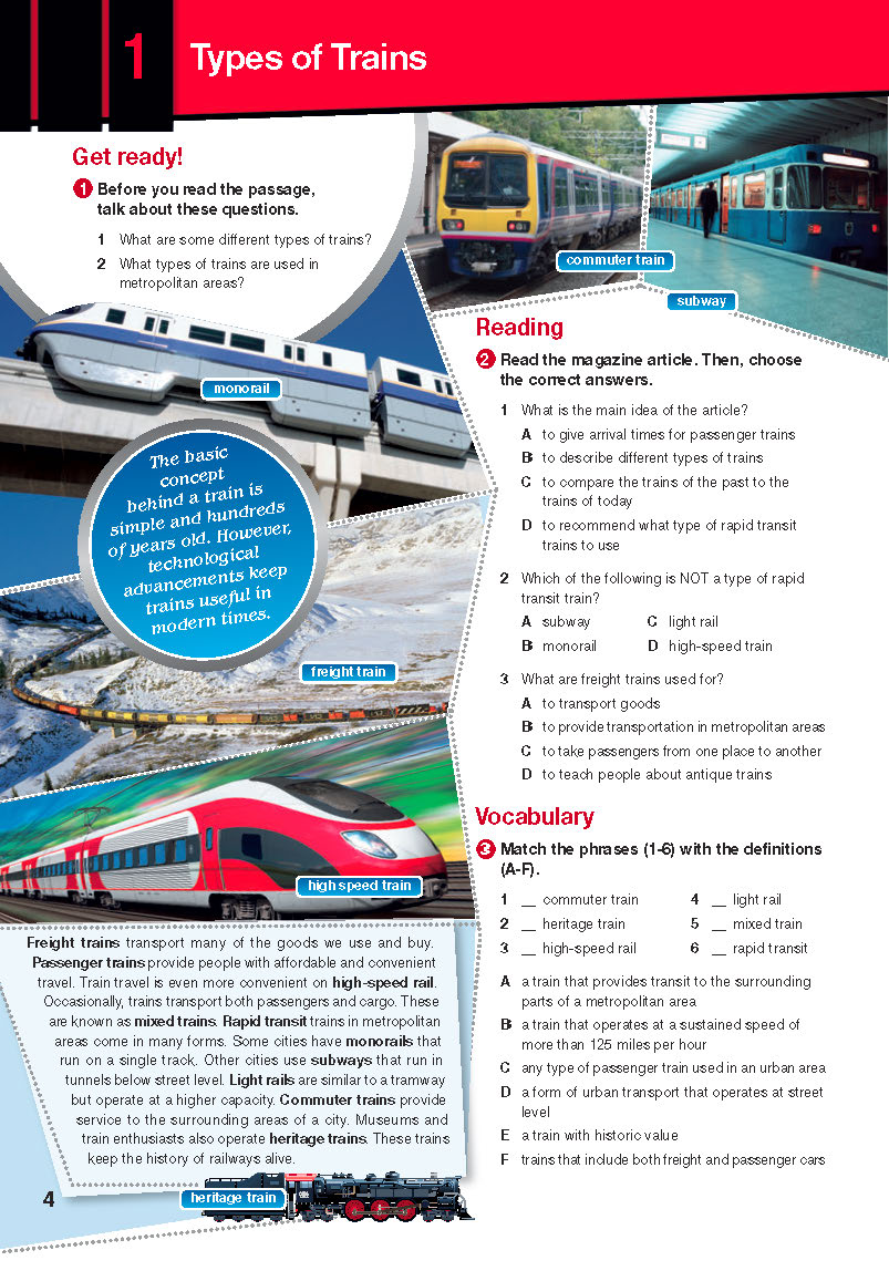 ESP English for Specific Purposes - Career Paths: Rail Transportation - Sample Page 1