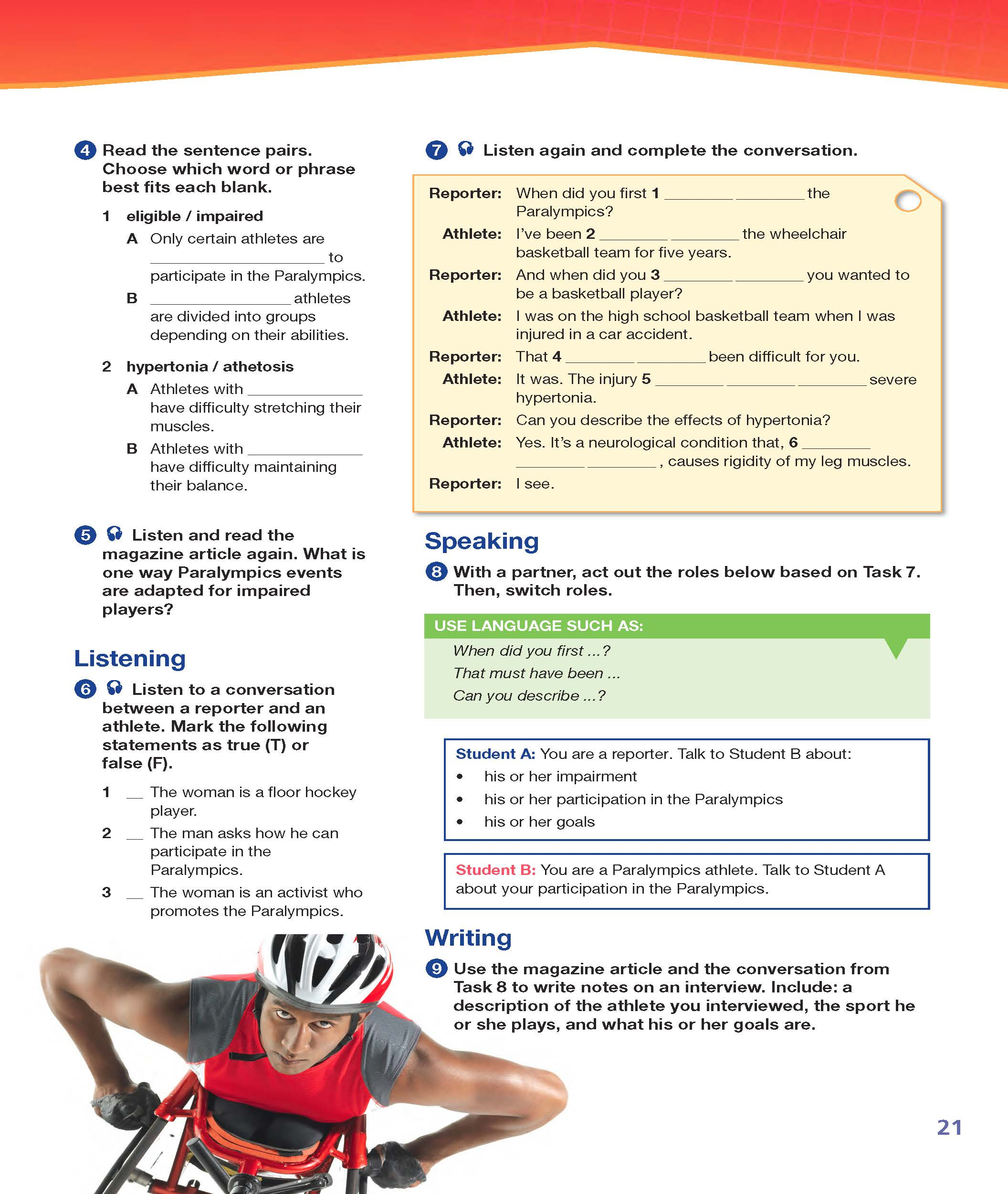 ESP English for Specific Purposes - Career Paths: ESP English for Specific Purposes - Career Paths: Worldwide Sports - Sample Page 4